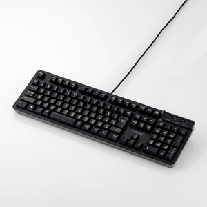 USBハブ付有線プレミアムメンブレンキーボード(TK-FCM094HBK)
