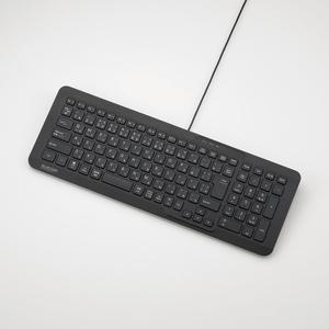 コンパクト有線パンタグラフキーボード(TK-FCP080BK)
