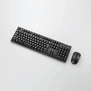 2.4GHzワイヤレスフルキーボード&マウス(TK-FDM063BK)