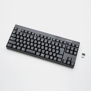 2.4GHzワイヤレスコンパクトキーボード(TK-FDM086TBK)