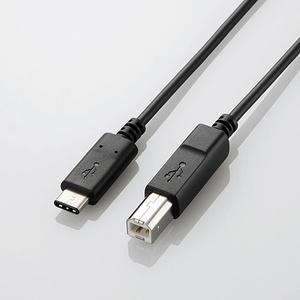 USB2.0ケーブル(認証品、C-B)(U2C-CB15NBK)