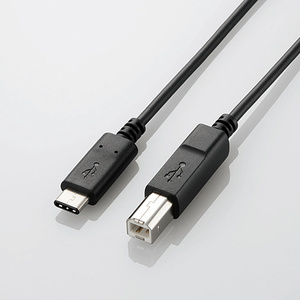 USB2.0ケーブル(認証品、C-B)(U2C-CB30NBK)