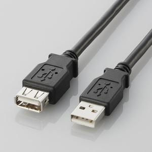 USB2.0延長ケーブル(A-A延長タイプ)(U2C-E05BK)