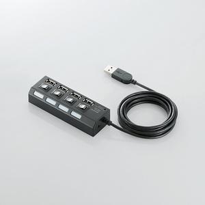 個別スイッチ付 4ポートUSBハブ(U2H-TZS420SBK)