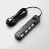 TV用ほこり防止シャッター付雷ガードタップ(AVT-K6A-2450BK)