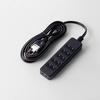 TV用ほこり防止シャッター付タップ(AVT-ST02-2625BK)