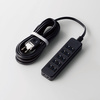 TV用ほこり防止シャッター付タップ(AVT-ST02-2650BK)