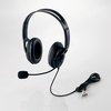 Headset (both ears large size overhead type) (HS-HP28BK)