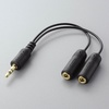 Mobile audio system cable (IPC-AS/BK) for iPod