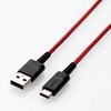 USB2.0ケーブル(高耐久、A-C)(MPA-ACS03RD)