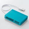 USBハブ付き48+5メディア対応カードリーダ(MR-C24BU)