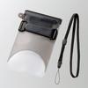 スマートフォン用防水・防塵ケース(自撮りハンドル付きタイプ)(P-WPSS02BK)