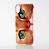 iPhone X用ソフトケース/テクスチャー/animal eye(PM-A17XUCAT02)