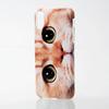 iPhone X用ソフトケース/テクスチャー/animal eye(PM-A17XUCAT03)