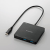 USB Type-Cコネクタ搭載USBハブ(PD対応)(U3HC-A413BBK)