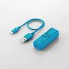 300MbpsWi-Fiポータブルルータ USBケーブル付き(WRH-300LB3-S)