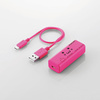 300MbpsWi-Fiポータブルルータ USBケーブル付き(WRH-300PN3-S)