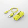 300MbpsWi-Fiポータブルルータ USBケーブル付き(WRH-300YG3-S)