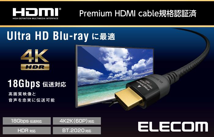 Dây cáp HDMI ELECOM DH-HDP14E10