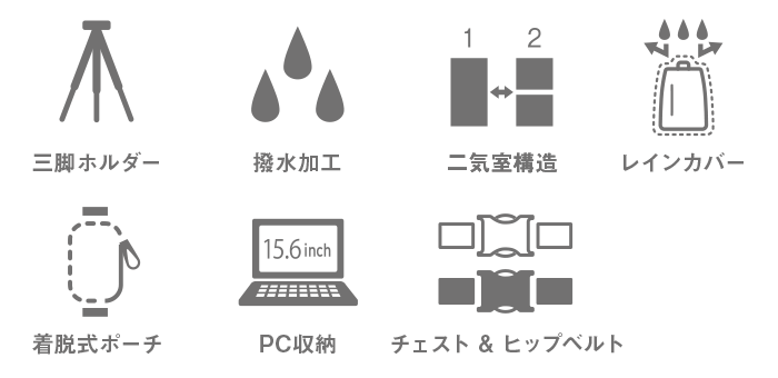Backpack <br>High-Grade / L /  2 style Camera-icon