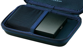 With net pocket for portable HDD