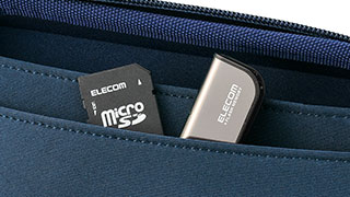 With accessory pocket inside the case
