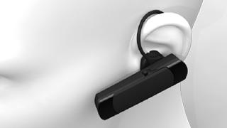 長時間尾使用でも快適に使用できるイヤーフックのデザイン