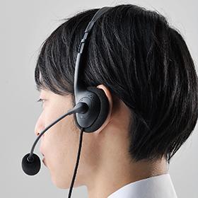 長時間の使用でも疲れにくい両耳タイプのオーバーヘッド