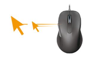ポインタ速度変更ボタン左右スクロールで作業効率アップ