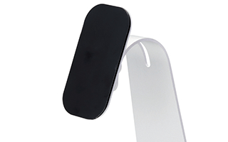 Secure the device with a special adhesive sheet
